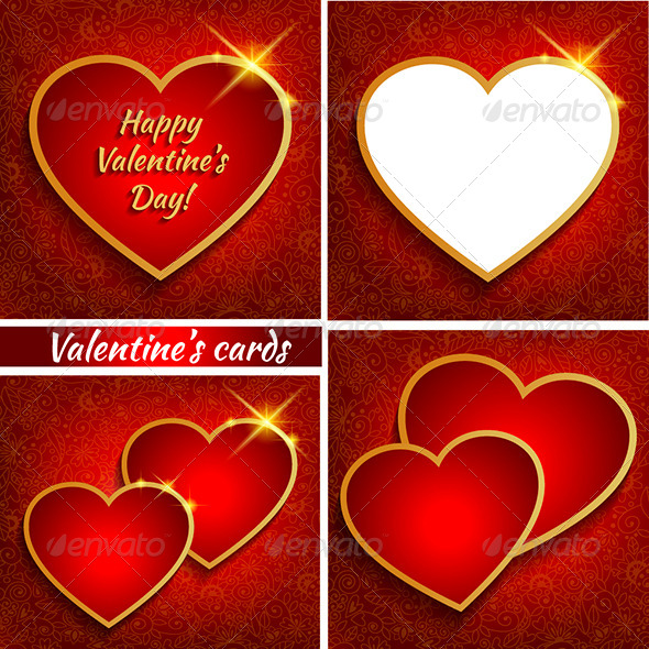 Set of Valentine s Backgrounds