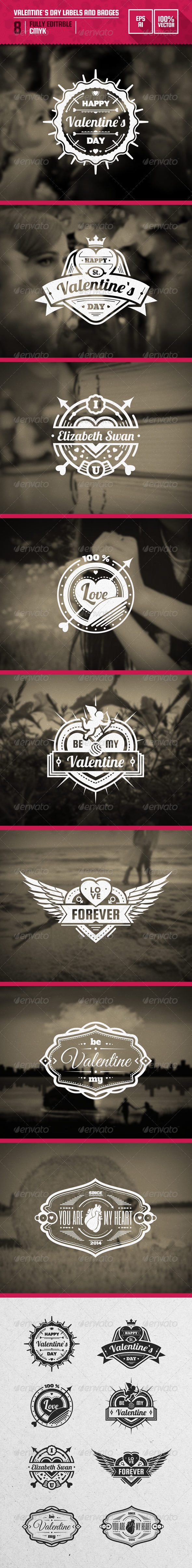 GraphicRiver Valentine`s Day Labels and Badges 6581641