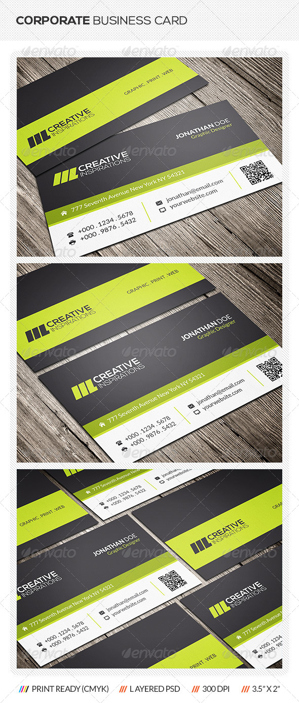 GraphicRiver Creative Corporate Business Card 6581701