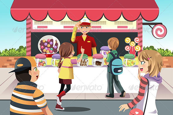 GraphicRiver Kids Buying Candy 6581704