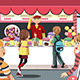 Kids Buying Candy - GraphicRiver Item for Sale
