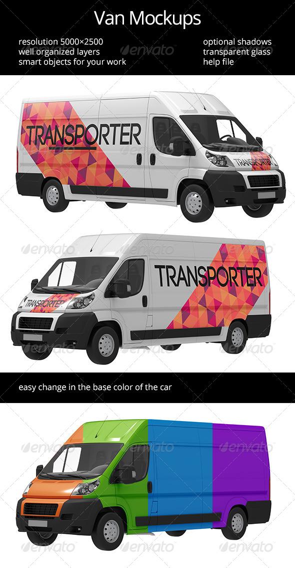 GraphicRiver Van Mockup 6581716