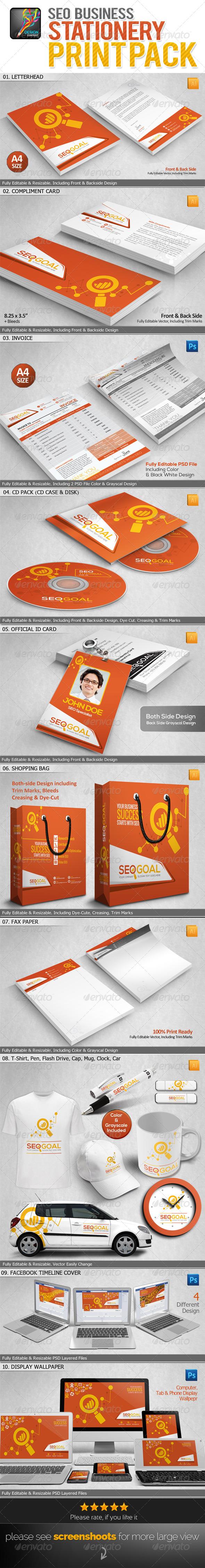 GraphicRiver SEO Goal SEO Business Standard Print Pack 6581791
