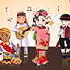 Kids Performing - GraphicRiver Item for Sale