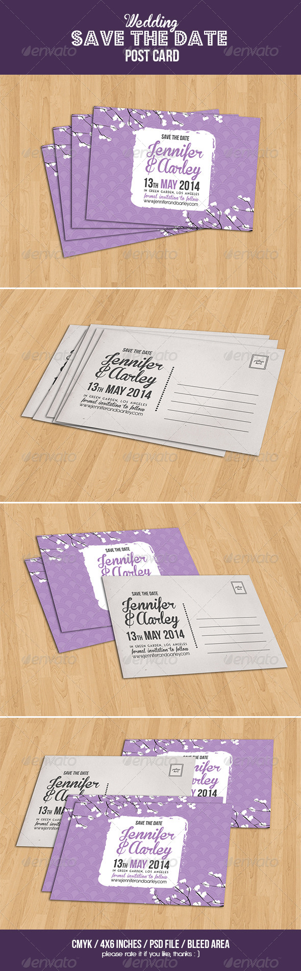 GraphicRiver Wedding Invitation Post Card 6582074