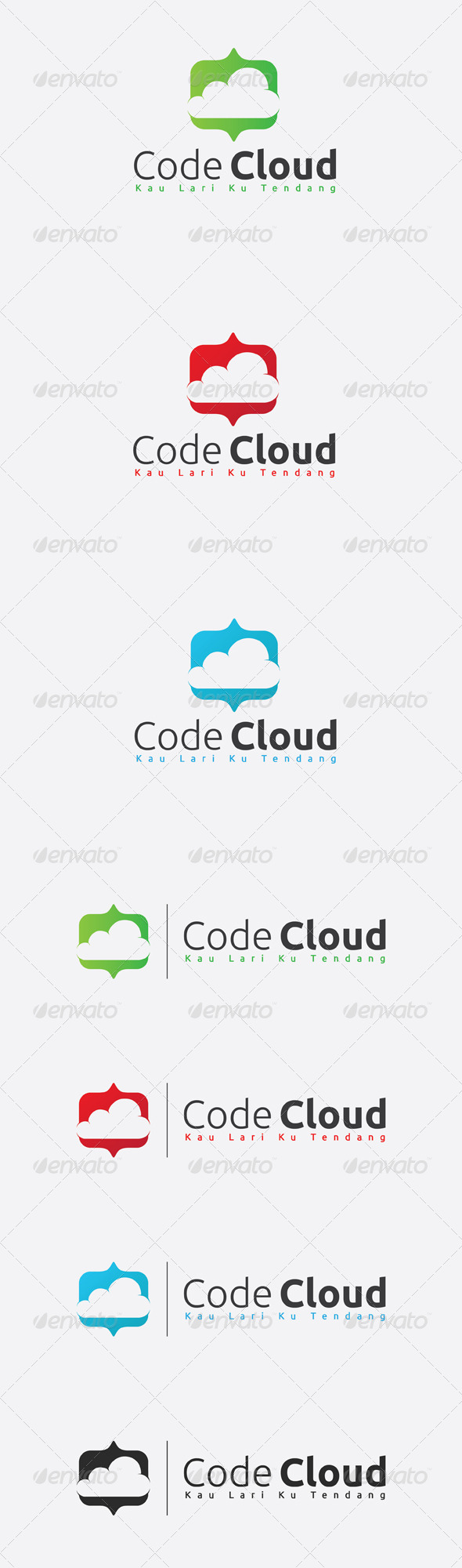 GraphicRiver Code Cloud Logo 6582150