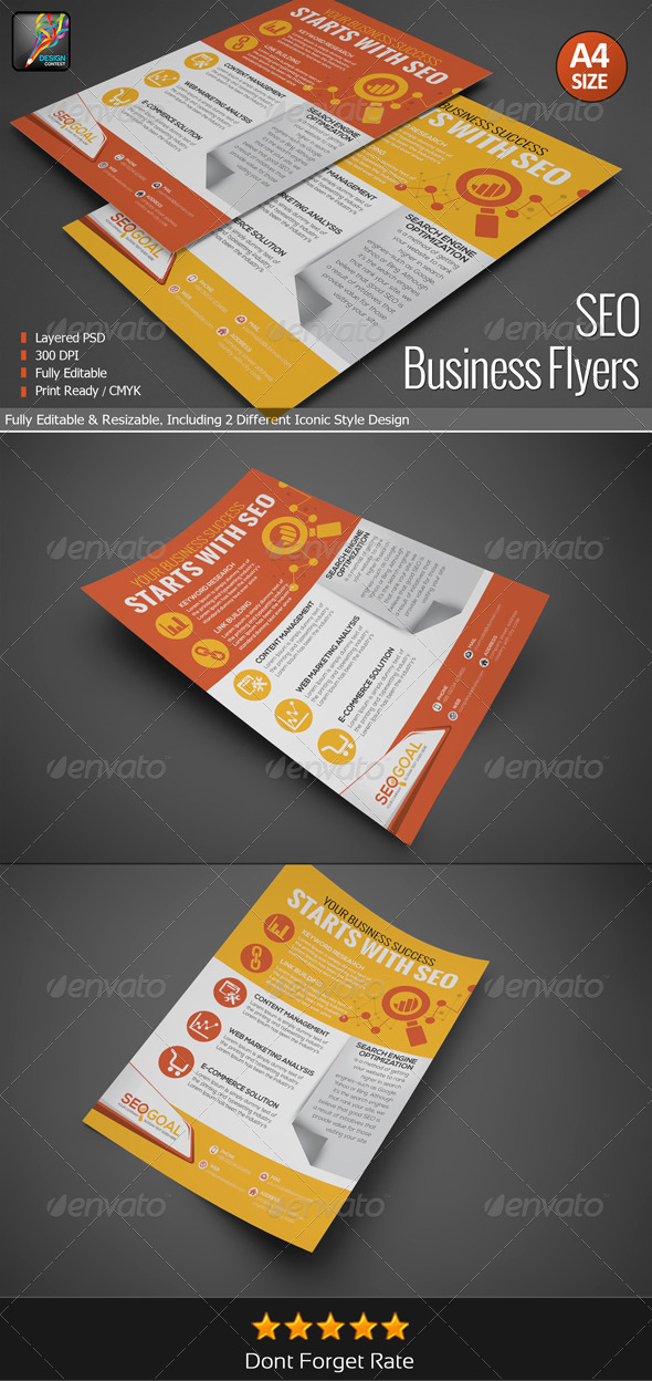 GraphicRiver SEO Business Flyers 6582155