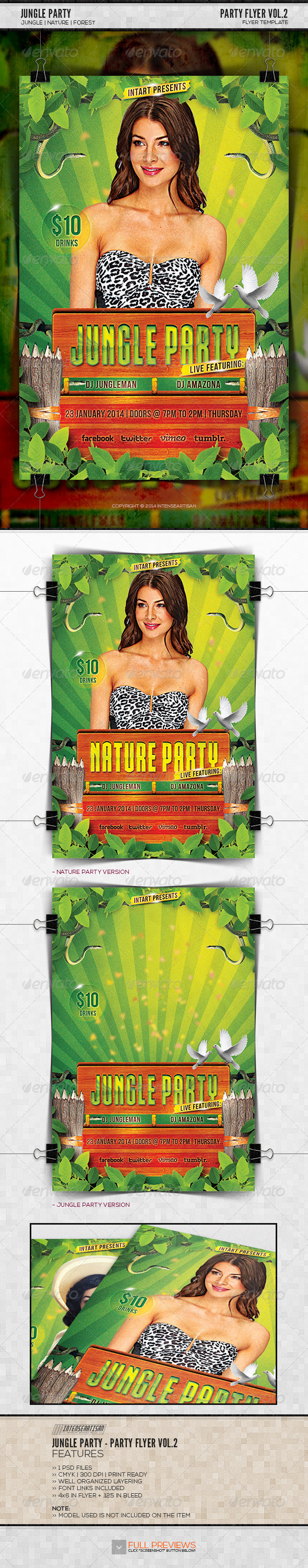 GraphicRiver Jungle Party Party Flyer Vol.2 6582257