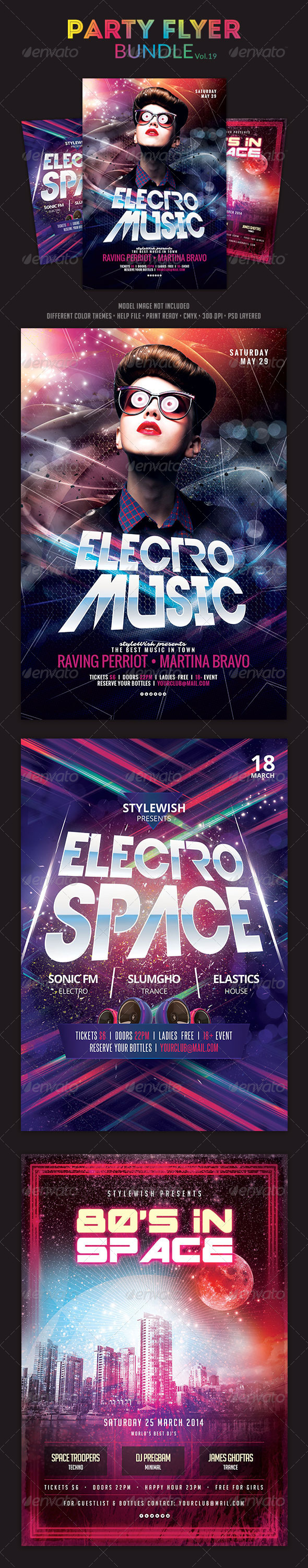 GraphicRiver Party Flyer Bundle Vol.19 6582275