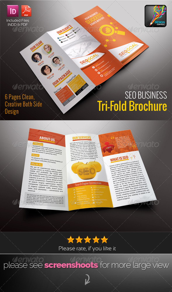 GraphicRiver SEO Business Tri-Fold Brochure 6582367
