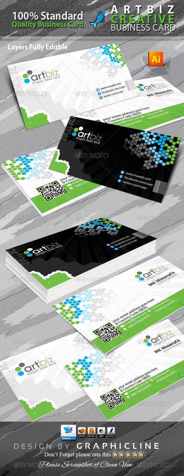 GraphicRiver Artbiz Creative Business Card 6582473