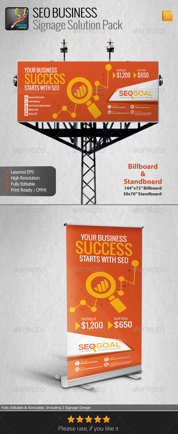 GraphicRiver SEO Business Signage Solution Pack 6582585
