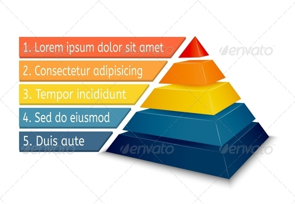 GraphicRiver Pyramid Chart for Infographics 6239888