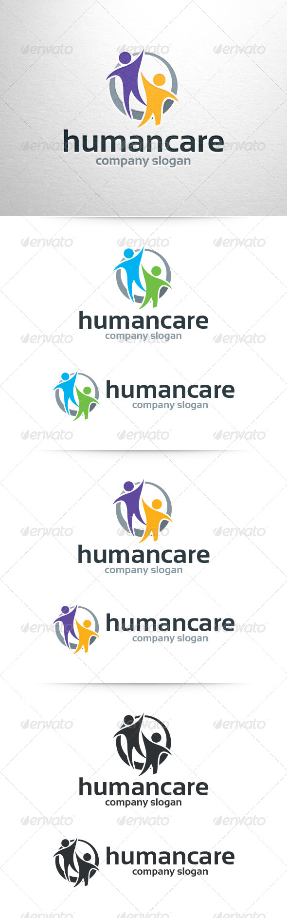 GraphicRiver Human Care Logo Template 6582718