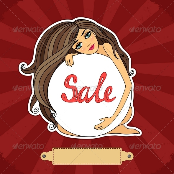 GraphicRiver Sale Poster with a Girl 6343040