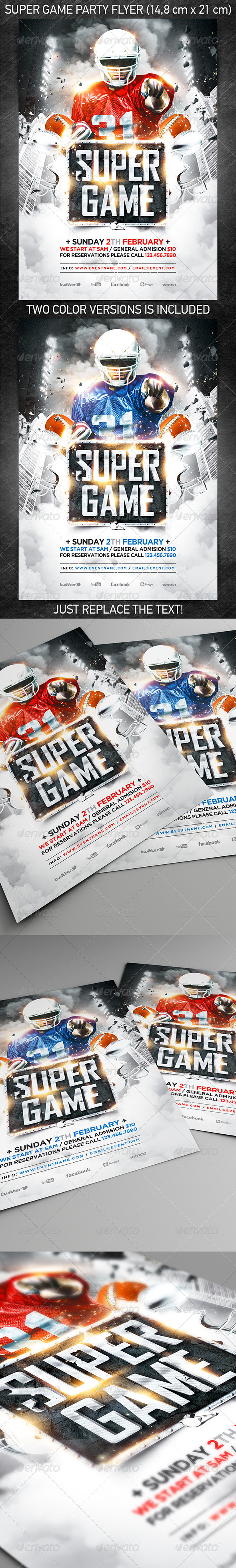 GraphicRiver American Football Super Game Flyer vol.2 6583032
