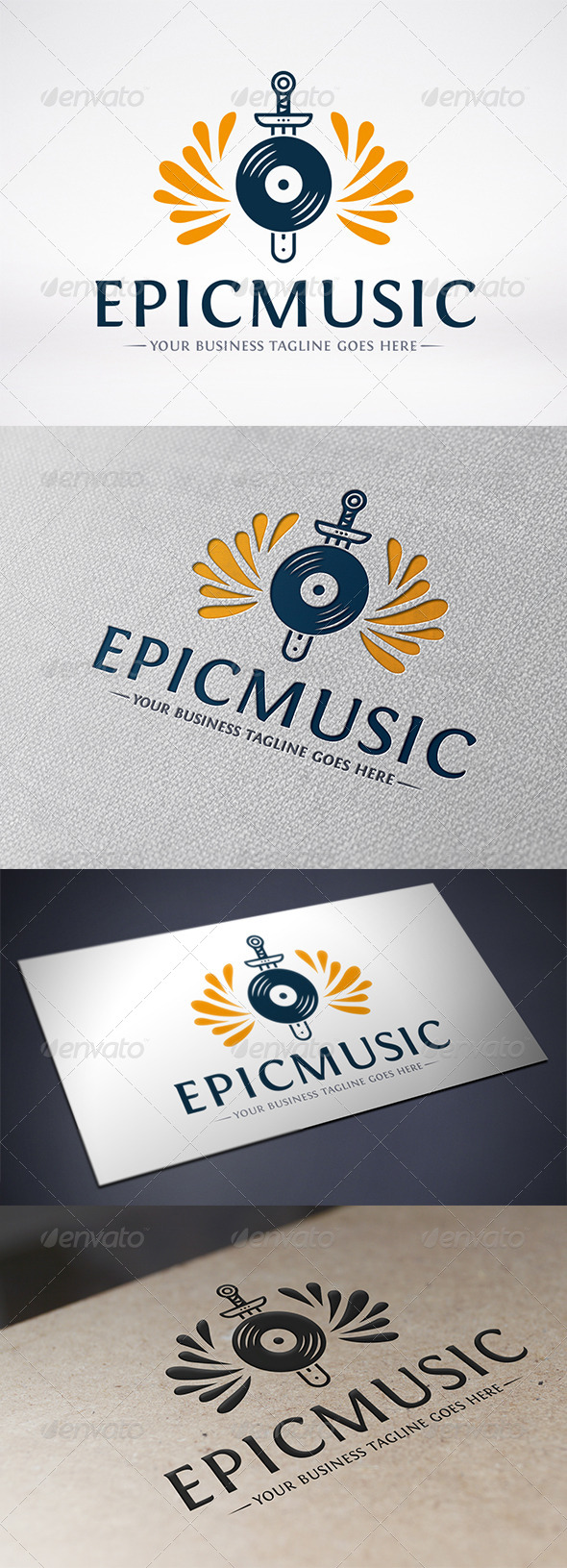 GraphicRiver Epic Music Logo Template 6583042