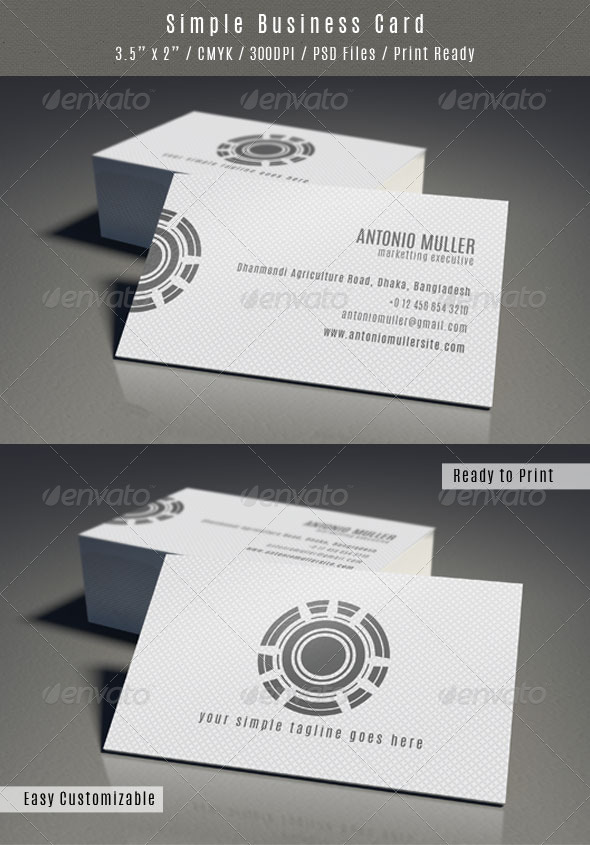 GraphicRiver Clean Pattern Business Card 6583090
