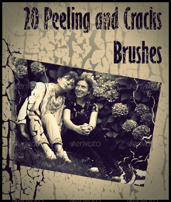 GraphicRiver 20 Peeling and Cracks Brushes 6545003