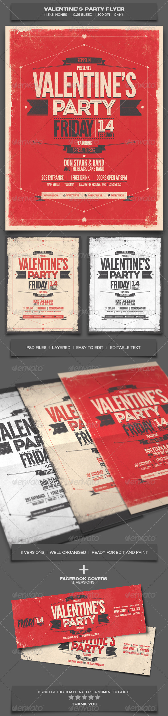 GraphicRiver Valentine s Day Party Event Flyer Template 8 6583205
