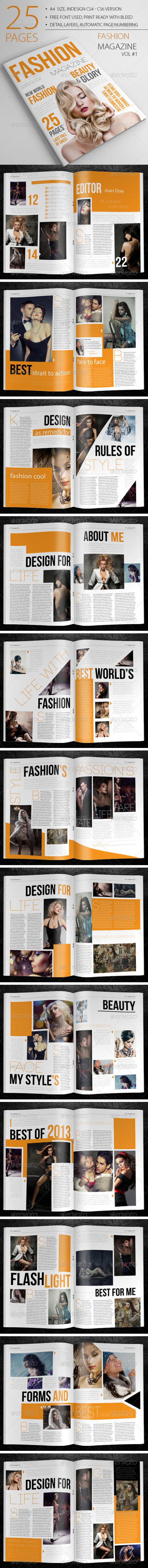 GraphicRiver 25 Pages Fashion Magazine Vol1 6583230