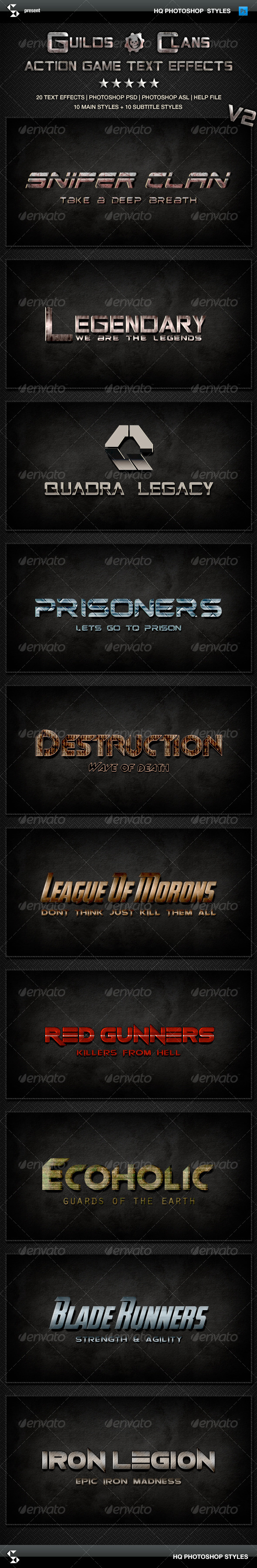 GraphicRiver Action Game Styles Guilds and Clans V2 6583236
