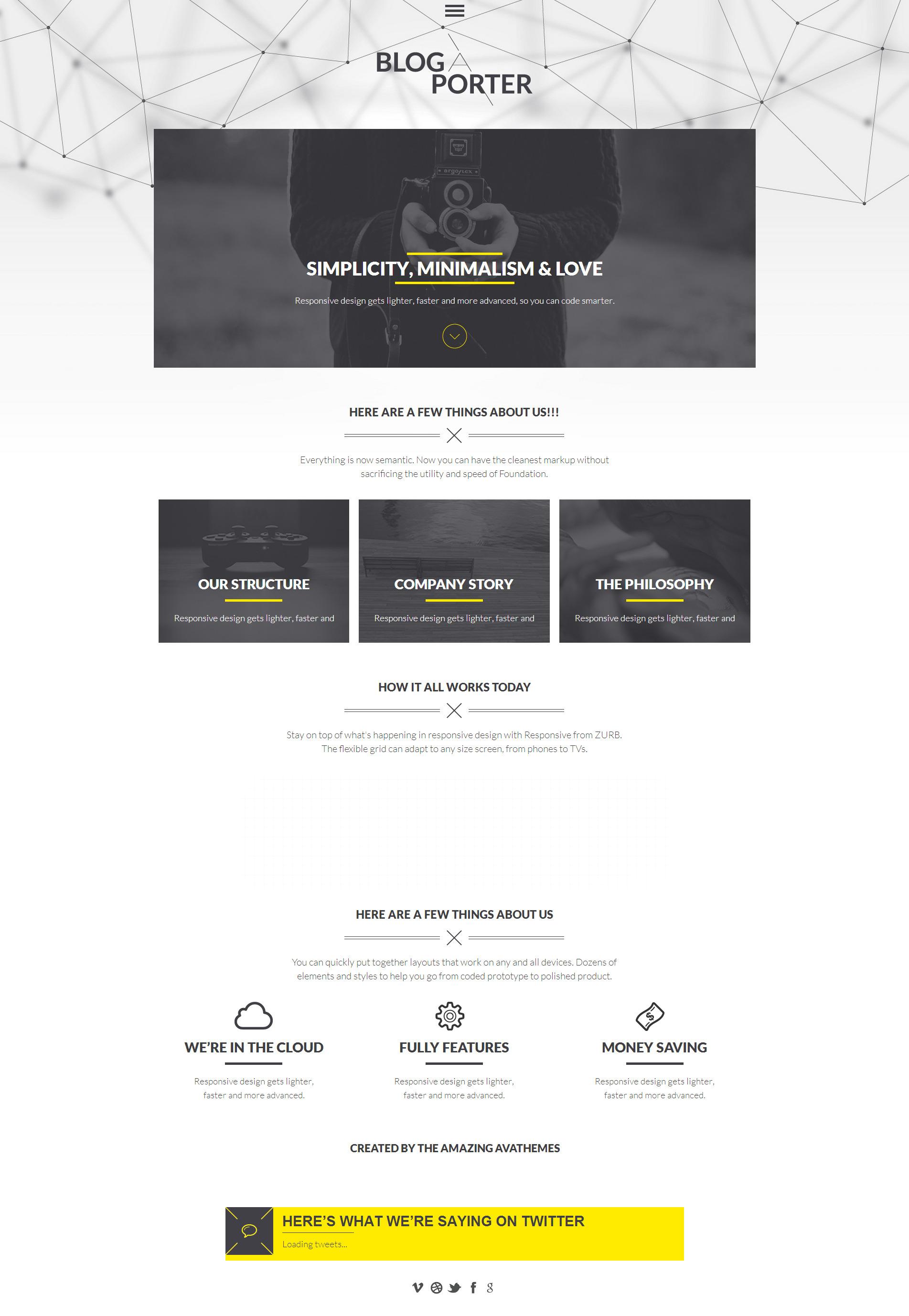 Blog-A-Porter - 3D Menu Responsive WordPress Theme