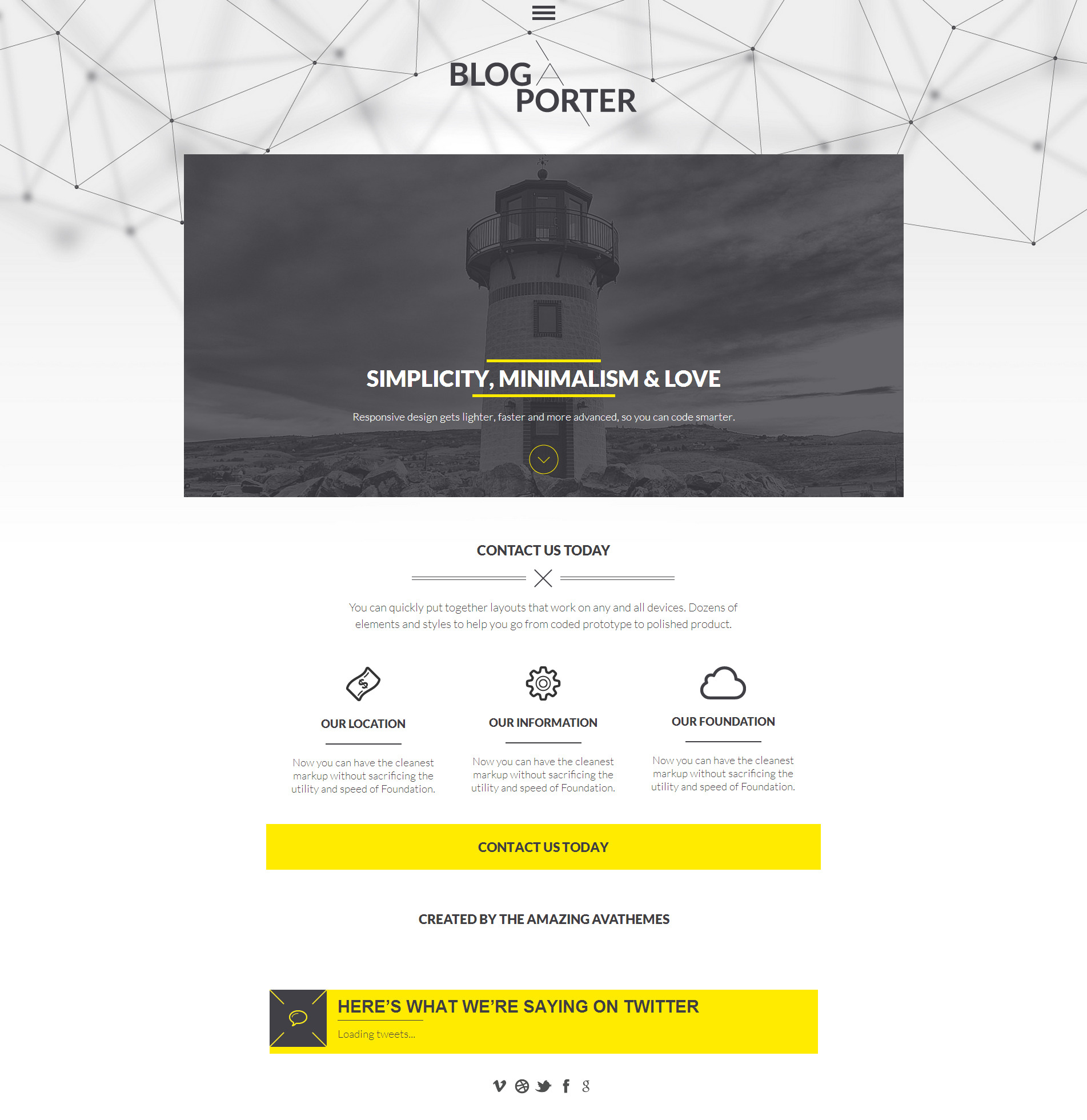 Blog-A-Porter - 3D Menu Responsive WordPress Theme