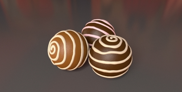 Chocolate Ball - 3DOcean Item for Sale