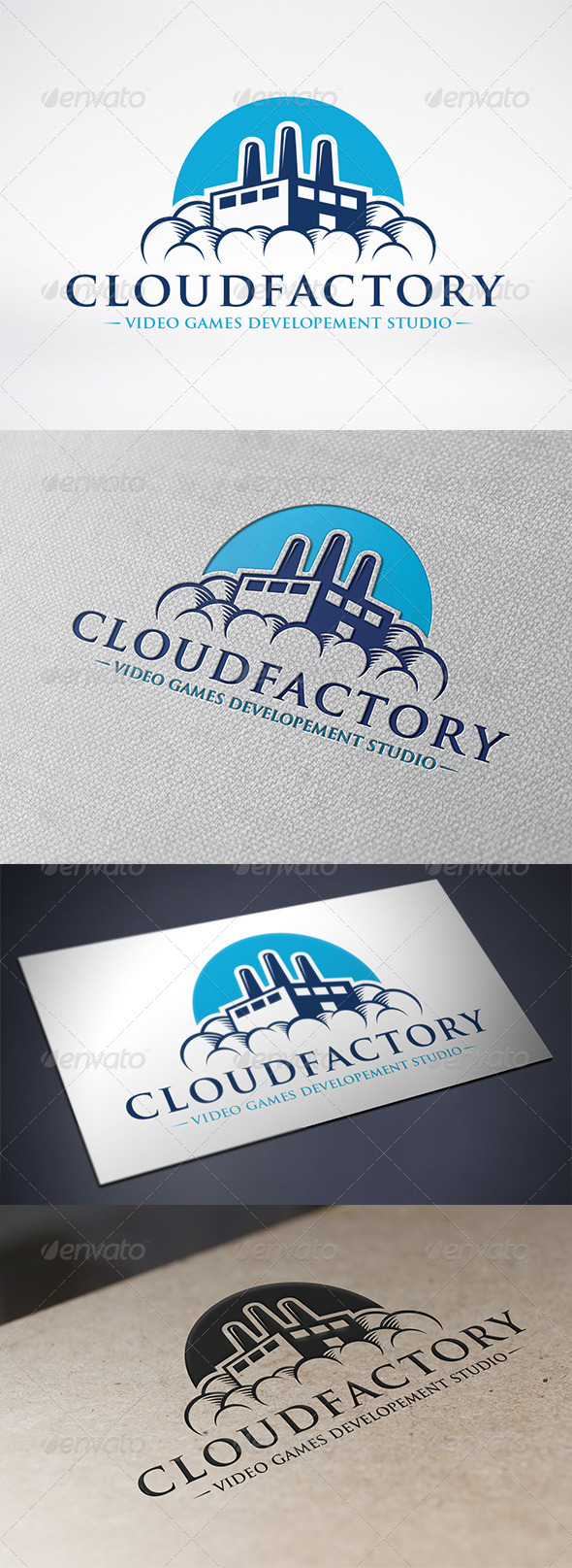 GraphicRiver Cloud Factory Logo Template 6583383