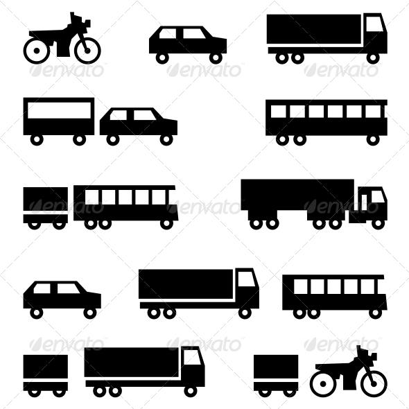 GraphicRiver Transportation Symbols 6583412