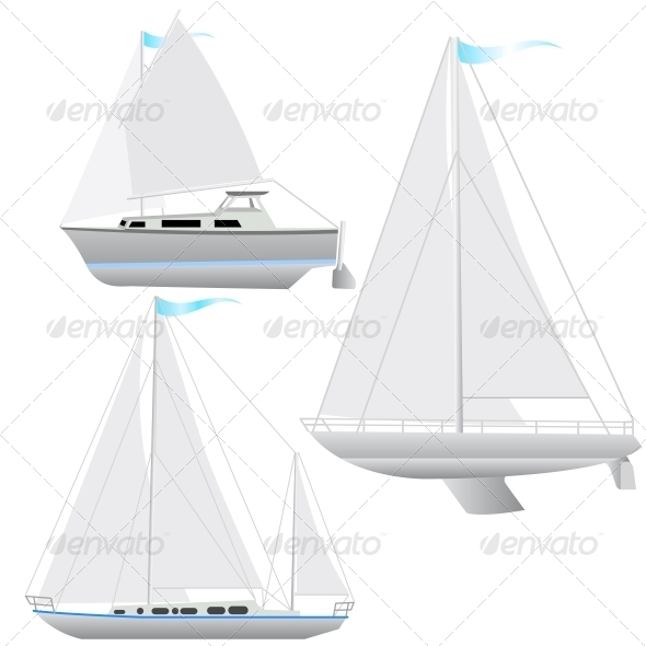 GraphicRiver Sailing Boat Set 6583419