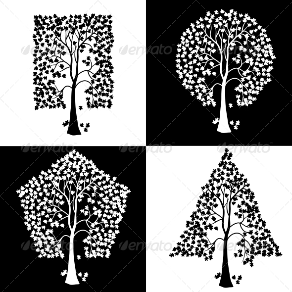 GraphicRiver Trees of Different Geometric Shapes 6583537