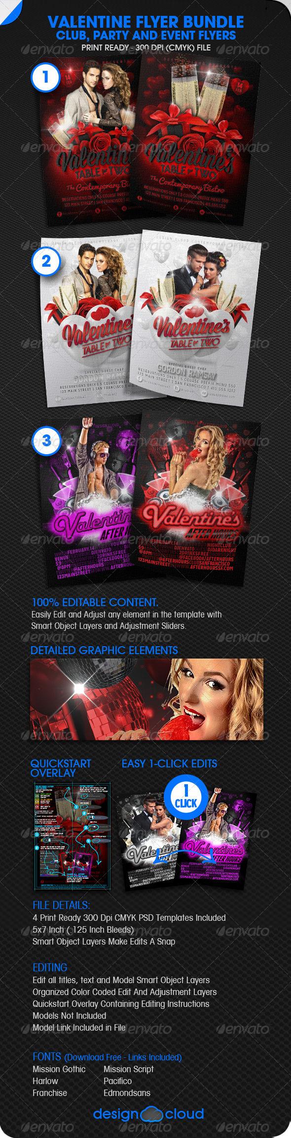 Valentine Flyer Bundle