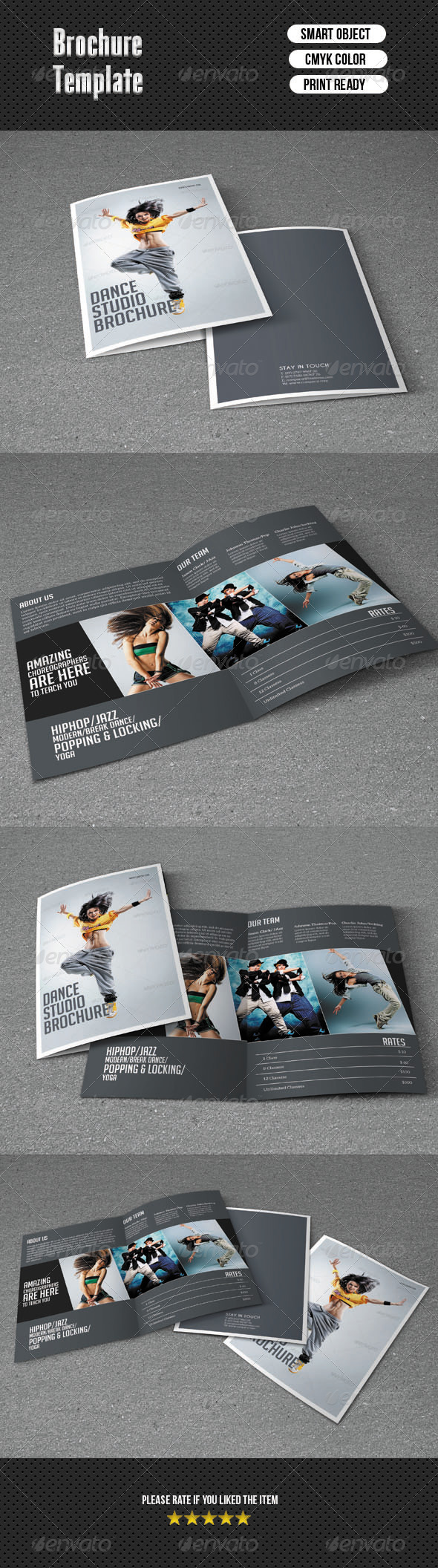 GraphicRiver Bifold Brochure-Dance Studio 6583624