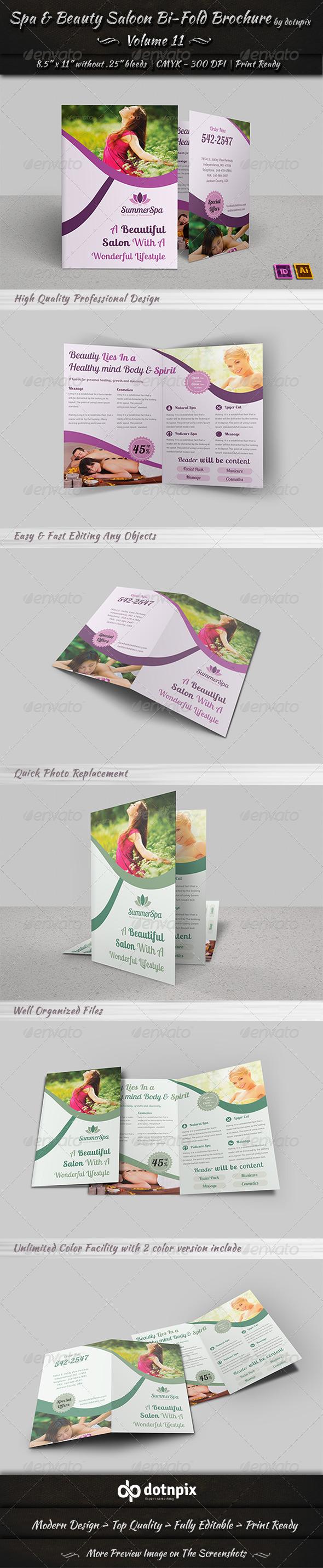GraphicRiver Spa & Beauty Saloon Bi-Fold Brochure Volume 11 6583627