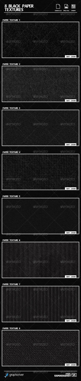 GraphicRiver 8 Black Paper Textures 6579803