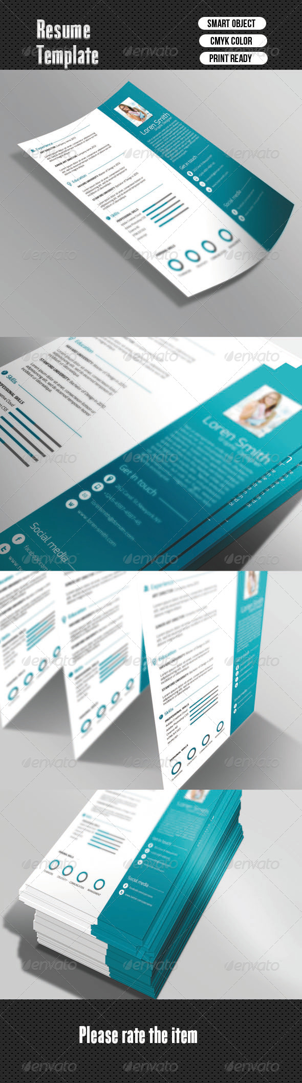 GraphicRiver Clean Resume 6583652