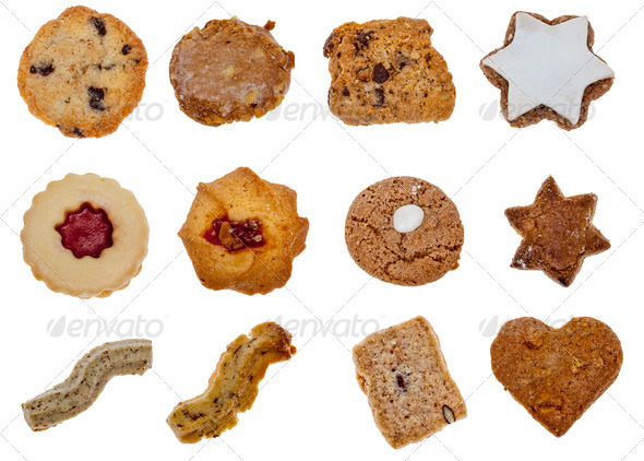 Collage of Biscuits - Stock Photo - Images