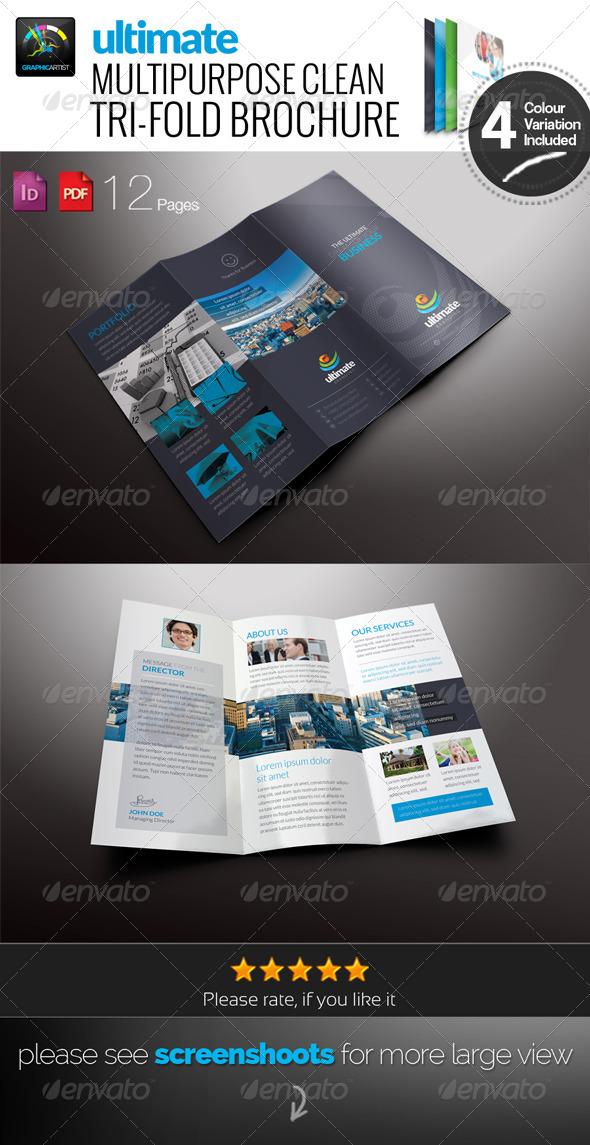 GraphicRiver Ultimate Clean Tri-Fold Brochure 6583740