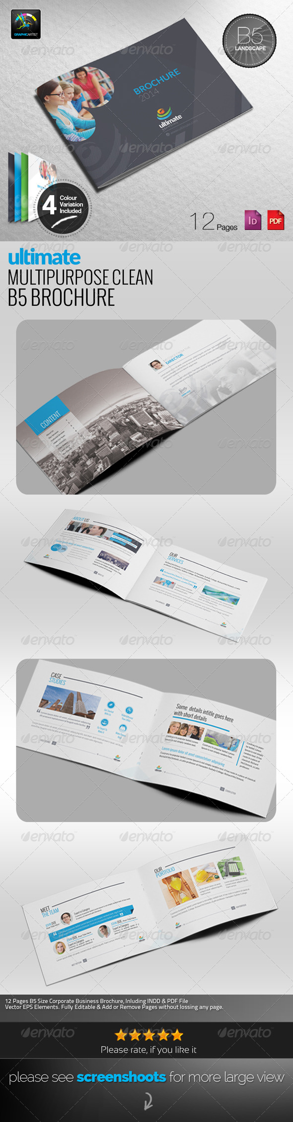 GraphicRiver Ultimate Multipurpose B5 Brochure 6583823