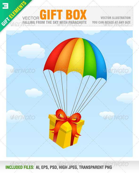 GraphicRiver Gift Box with Parachute 6564613