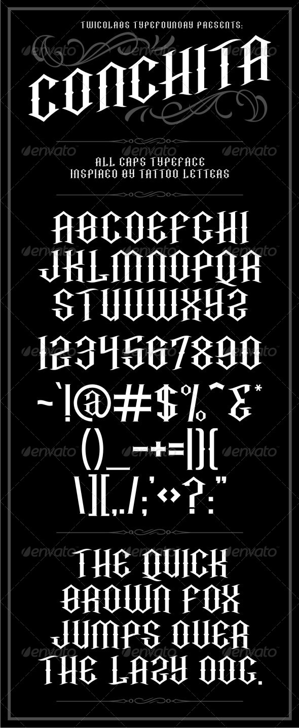 GraphicRiver Conchita Typeface 6583941
