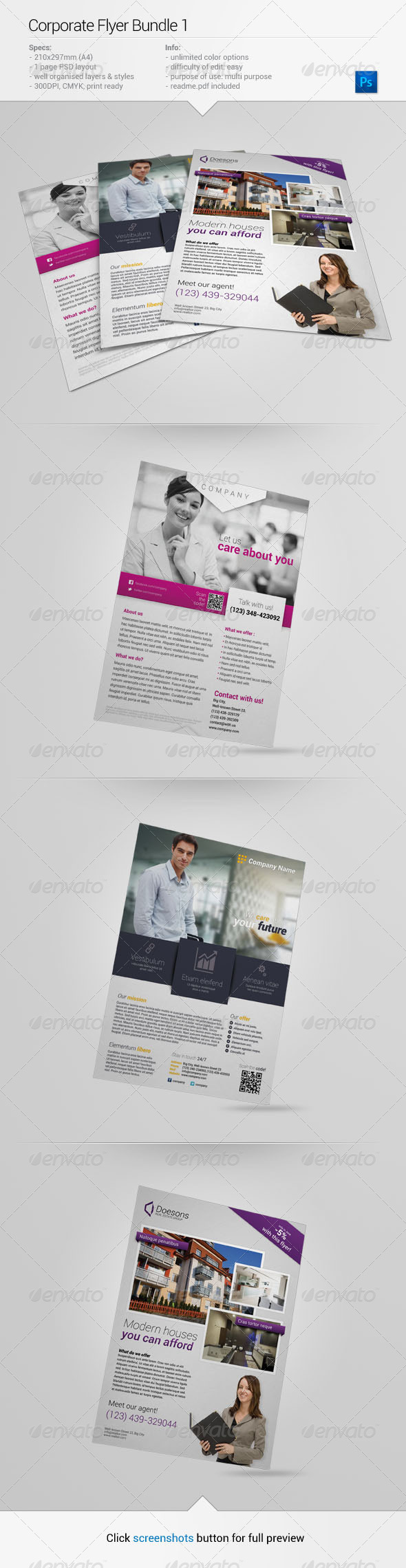 GraphicRiver Corporate Flyer Bundle 1 6584139