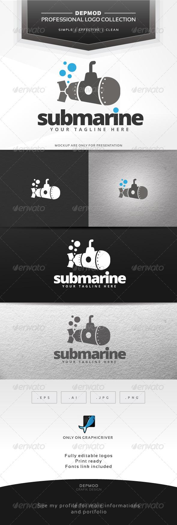 GraphicRiver Submarine Logo 6584174