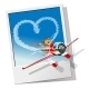 Valentines Card with Cartoon Airplane - GraphicRiver Item for Sale