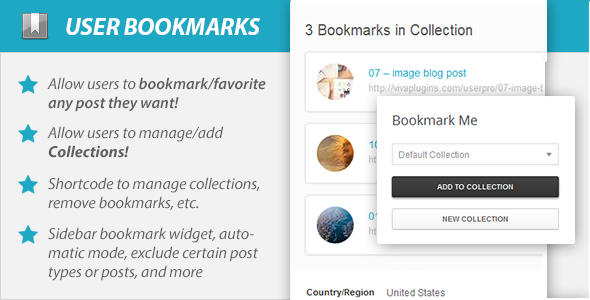 WordPress User Bookmarks (Standalone version) - CodeCanyon Item for Sale