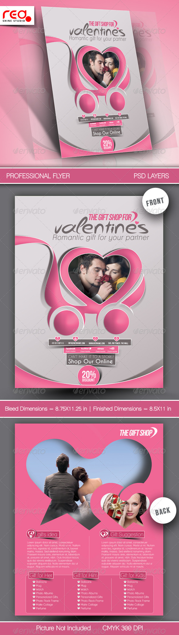 GraphicRiver Valentine s Gift Shop Flyer Template 6584183