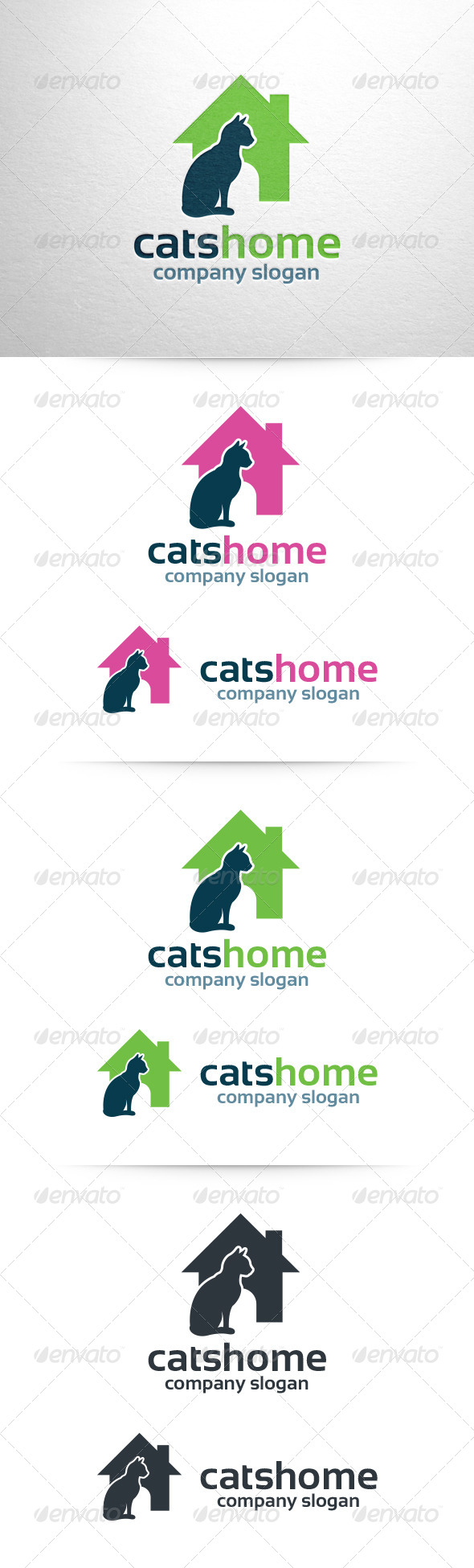 GraphicRiver Cats Home Logo Template 6584229