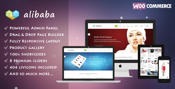 ThemeForest Alibaba Multi Purpose Responsive eCommerce Theme 6555177